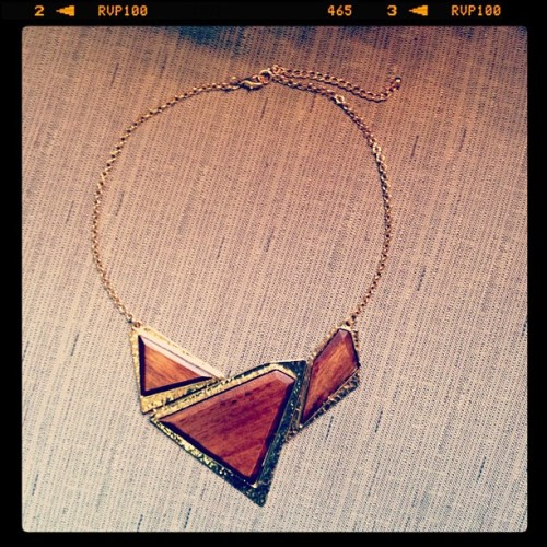 Metal & Wood bib necklace (Taken with Instagram)