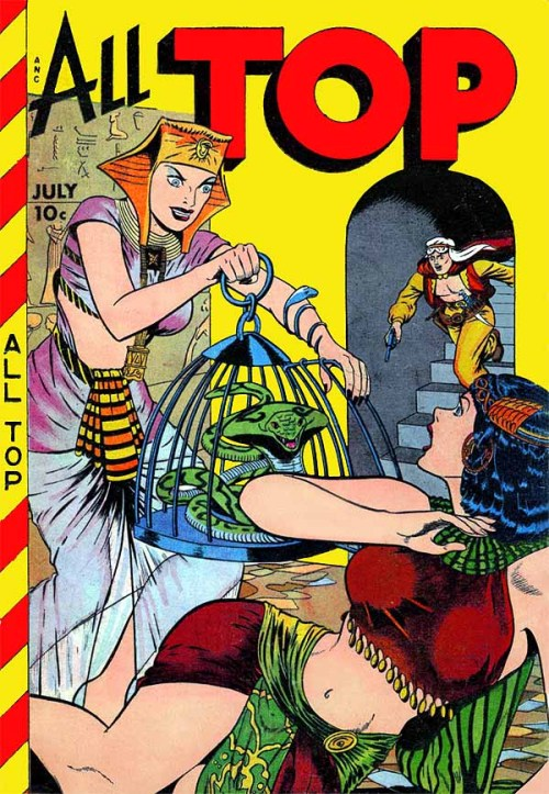 All Top comic book cover (1949)Art: Matt Baker Source: American Art Archives