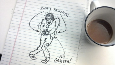 senseibarry:  Do zombies have allergies? If you're allergic to something and you die, will the walking corpse version of you also suffer from that same allergy? Let's say you're allergic to gluten. Would eating the brains of a glutinous gluten-eater make your zombie belly ache? Or do the after dead have some sort of invincibility cloak when it comes to allergies? Please let me know if you or anyone else you know has the answer to this question. It's important.