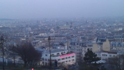 The view from the steps of La Basilique du Sacré Coeur de Montmartre is one which no person can ever tired of. I still remember the first time I came up those steps and Paris in all its glory reigned down on me at once, I fell in love with a city, a fantasy, a beautiful painting, a myth!  No wonder this view has featured so heavily in popular culture, referenced everywhere from the legendary 1976 short movie 'C'était un rendez-vous' to Woody Allen's soon-to-become cult classic 'Midnight in Paris', it's been a view that has hardly been distorted along the years. Many have come and gone on these steps and wondered in awe, but Paris, La Ville-Lumière, remains.