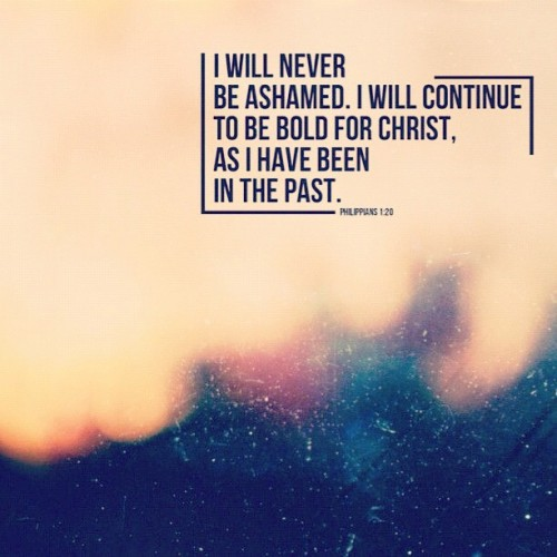 Never ashamed #notashamed #gospel #bible #bibleverses #scripture #ilovethis #thanksgod #God #faith #love #blurr #awesome  (Taken with Instagram)