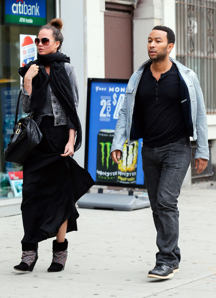 John Legend and his fiance Chrissy Teigen in NYC…