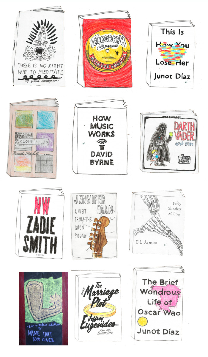 ruinsorbooks:  hand-drawn best-seller list from the Skylight Books homepage