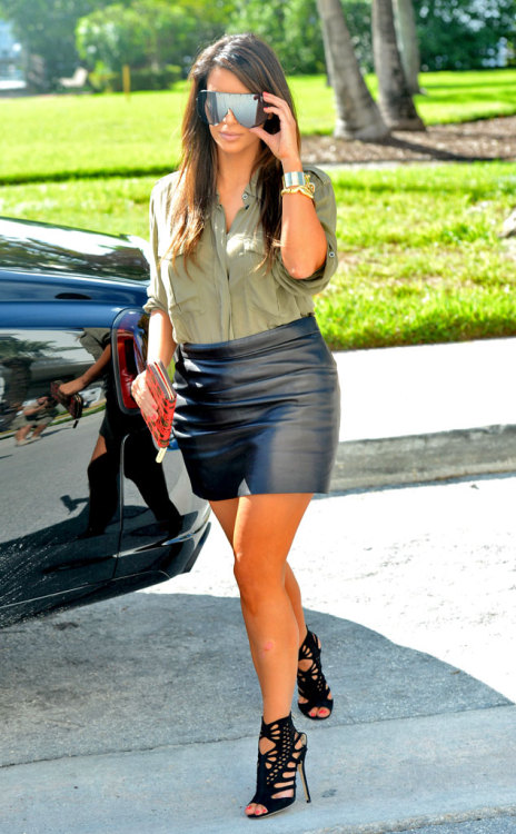 Kim Kardashian… those are some serious stunna shades! Click the photo to see where she was spotted today!