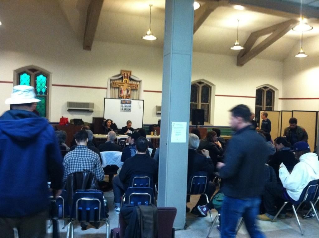 PIC: #Anons fill seats inside fascist political party's Astoria office. What happens next?