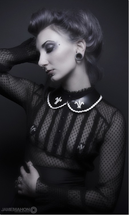 Fleur de lys peter pan collar Biomechanina by Jamie Mahon