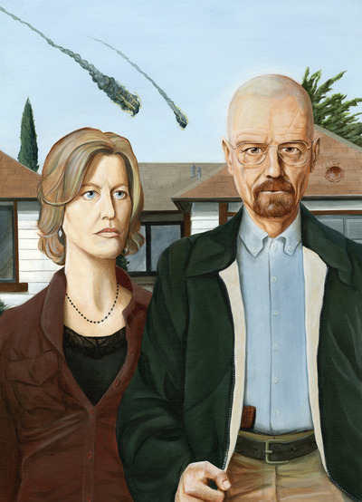"breakingbadamc:  Brian DeYoung's ""American Gothic on Meth"" — Be sure to check out his website and order prints if you like it, they're very reasonably priced."