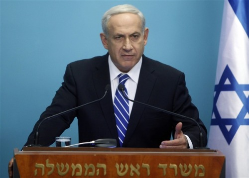 communismkills:  timespentstoned:  Prime Minister Netanyahu has called for early elections in order to cement his power before conflict with Iran. Click through for full story. Photo credit: Lior Mizrahi, Getty Images  He's a shoe-in, right?