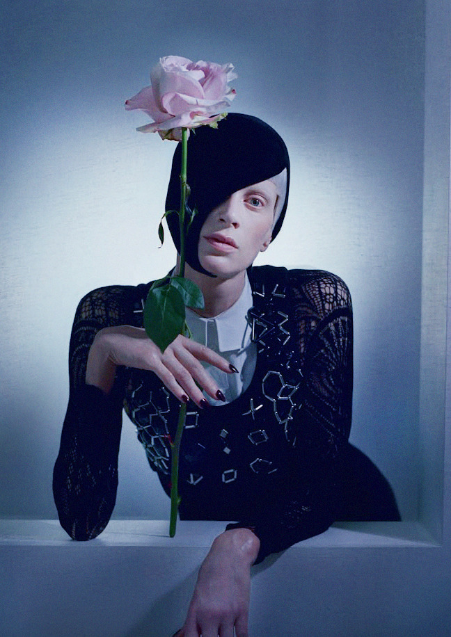 'Black & Roses' Kristen McMenamy photographed by Tim Walker for Vogue Italia, October 2012