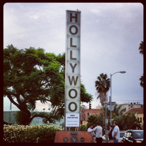 erinmallory:  Hollywoo. Under construction. (Taken with Instagram)