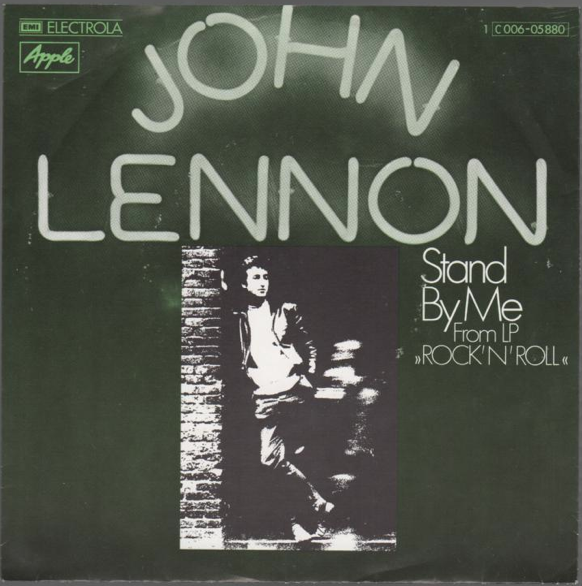"John Lennon ""Stand By Me"" / ""Move Over Ms. L"" Single - Apple Records, Germany (1975)."