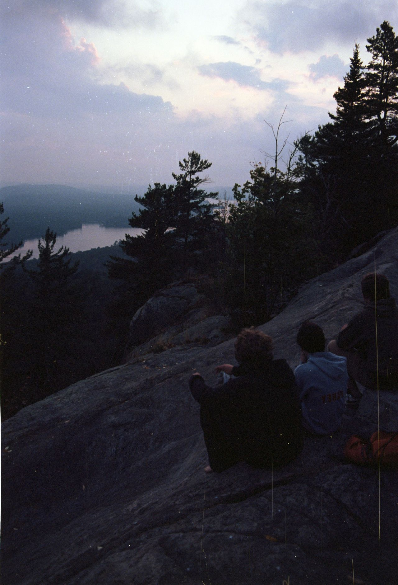 Another one from Bald mountain.  I am really glad I found my negatives from this trip- I had enlargements made and lost track of them. This photo is of 3 guys we ran into up on the mountain and I figured that taking a photo of them would be good just to help remember the whole experience of it all a bit better for the years to come.  C.F.B.