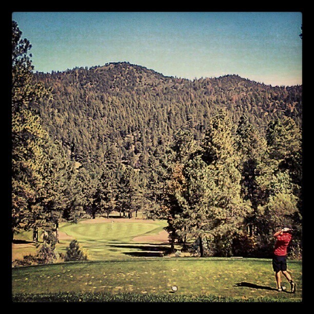 Golf with the gods (Taken with Instagram at Mescalero Indian Reservation)