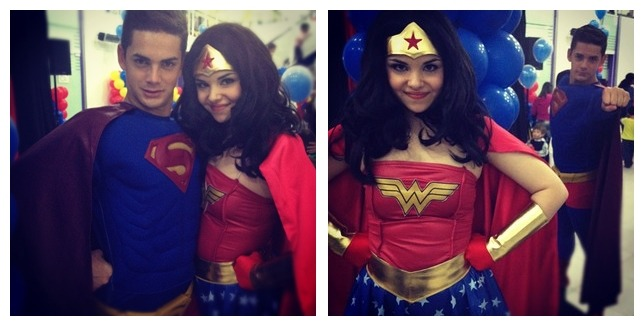 What a cute real-life Superman and Wonder Woman. From http://instagr-am.appspot.com/p/269665074454850311_30533449/