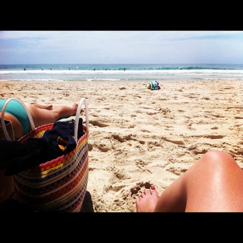 Beach day! (Taken with Instagram at Burleigh Heads Beach)