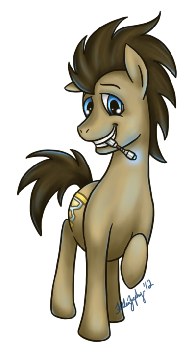 30 Day MLP Challenge, Day 1: Doctor Whooves This is a challenge I designed for myself in which over the next 30 days (hopefully) I'll be drawing one random character from MLP:FiM each day. Welp here's to killing myself with pony art woohoo