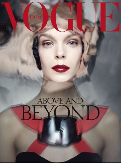 Megan Collison covers Vogue Italia's October 2012 issue. Amazing