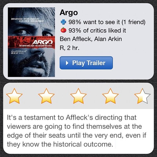 #instareview of Argo (Taken with Instagram)