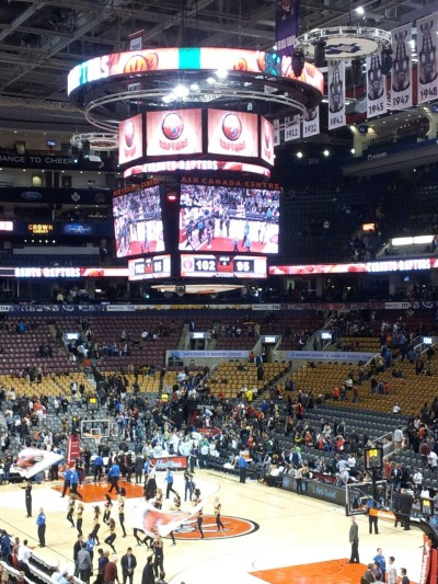 Caught the Raptors vs. Real Madrid pre-season game. While the Raps looked rusty, I appreciate the free pizza.