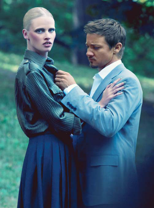 bohemea:  Lara Stone & Jeremy Renner: Dangerous Liasons - Vogue by Steven Klein, 2010