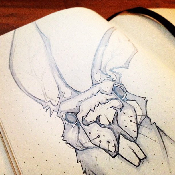 Bunny! #sketchbook  (Taken with Instagram at HAUS)