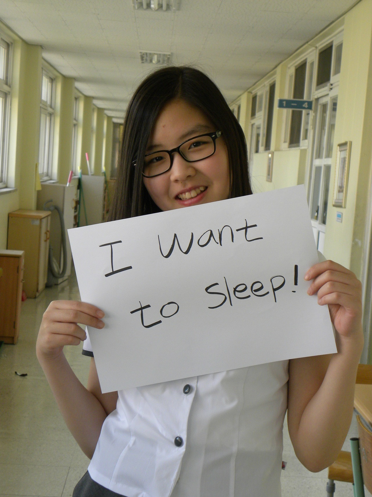 I want to sleep!