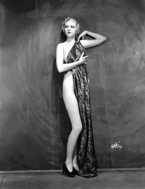 "burleskateer:  Florence Moore A vintage press photo from 1931.. She was one of the lead showgirls performing in Billy Rose's ""Crazy Quilt"" revue; presented at the 'APOLLO Theatre', in New York City.."