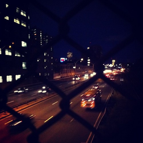 nightclubjitters:  #boston#allston #city#highway#bridge#cars#lights#night (Taken with Instagram)