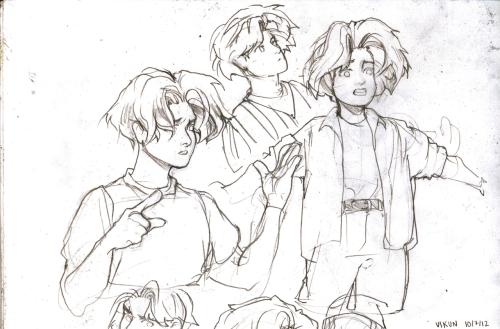 vikun:  Bart sketches that didn't turn out as well as they could have UvU;  HIS HAIR GODDAMNIT HIS KAWAII MOTHERFUCKING HAIR  I CANA;LKTJS;LKDJF