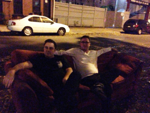 Yo anyone want a free couch? Come find us we live in Brooklyn.
