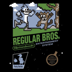 insanelygaming:  Regular Bros Created by beware1984 Available on RedBubble