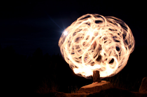austincostanza:  Full Moon Fire Spinning
