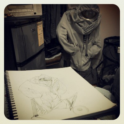 Drawing clothes monsters. (Taken with Instagram)