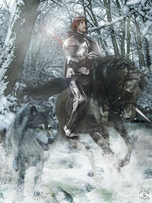 The King in the North - Robb Stark and Grey Wind