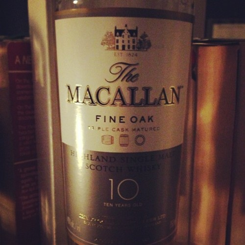 #thewhiskeychronicles #scotch #macallan #scotland #10years #whiskey #home  (Taken with Instagram)