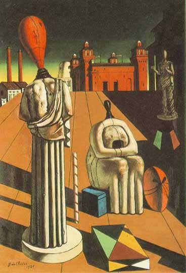 The Disquieting MusesGiorgio de Chirico 1916