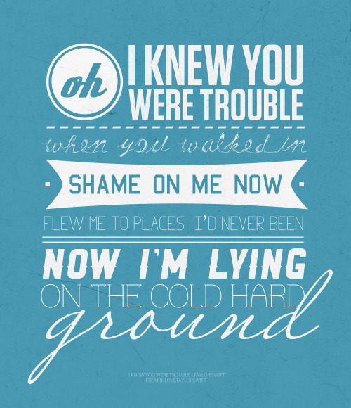 102/100 TAYLOR SWIFT LYRICS