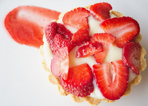 Strawberry tartlet.