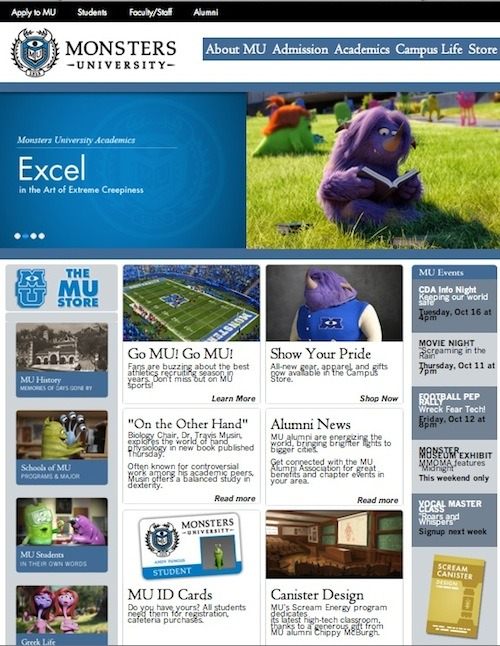 Disney•Pixar's Monster University official website!
