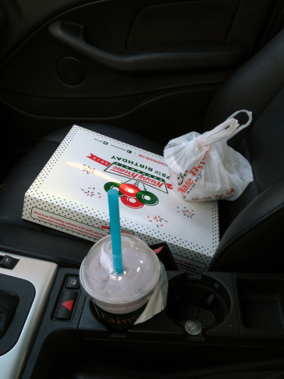 The ultimate drive back to the valley. Krispy Kreme, Flame Broiler, and Tea Station