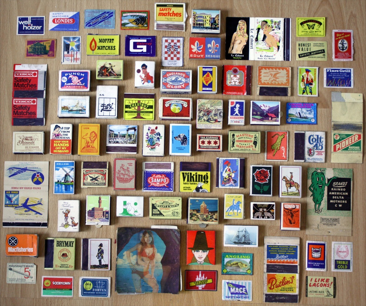 SUBMISSION: A small selection of vintage matchboxes and matchbooks from the recently established Old Matchbox Archive. ed: This isn't a perfect grid, but I think a lot of my design-minded followers will like this tumblr.