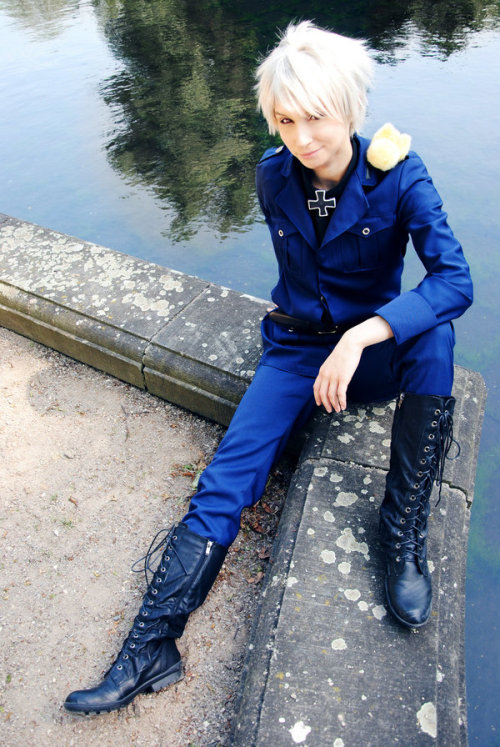 amazinghetaliacosplay:  Prussia - APH by *LucilleSmiles  And suddenly - my face. That was a surprise. (Damn, that's an old one!)