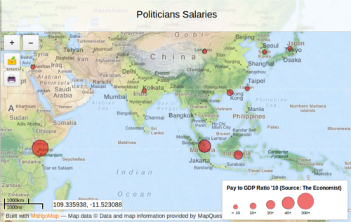 Interesting Map about politicians salaries worldwide using a GDP to salary ratio - Direct link to map: http://ow.ly/em90E #edtech #storymap