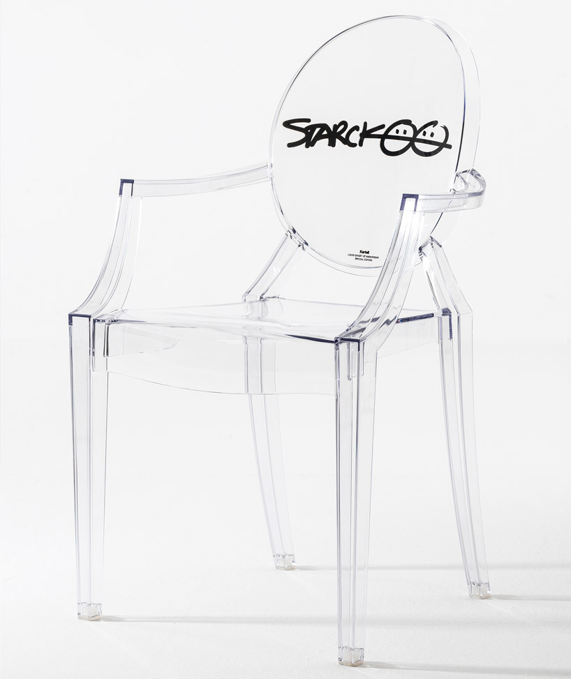 "Philippe Starck's Special Edition Louis Ghost Chair By Sade Lythcott To celebrate the 10th anniversary of designer Philippe Starck's iconic Louis Ghost Chair, a special edition has been produced featuring his trademark signature, laser-engraved on the back of the chair. Since its initial release in 2002, the simple piece (which is produced in a variety of colors and opacities) has become the most widely sold ""original design"" chair in the world, selling over 1.5 million pieces. (image: designboom)"