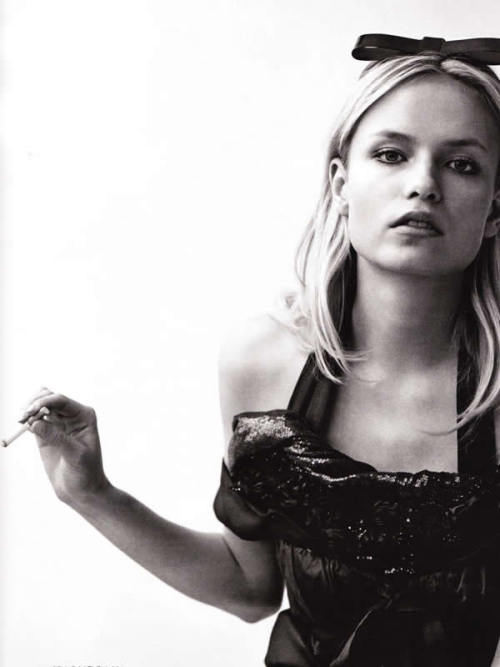 """Down with Shame"": Natasha Poly by Alasdair McLellan for Vogue Russia March 2009"
