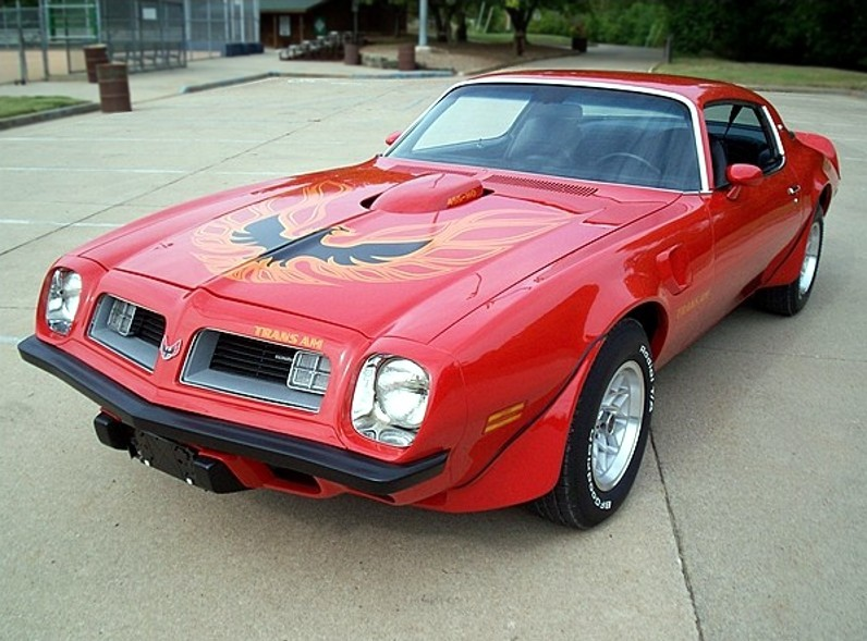 Buccaneer Red… 1975 Firebird Trans Am 455 coupe