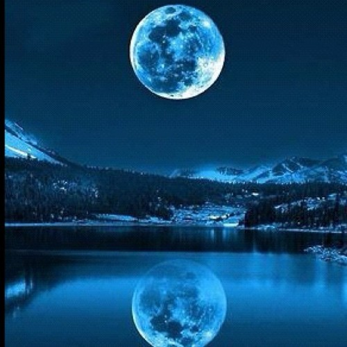 #night #moon #mountains #water #ic_water #reflection #beautiful (Taken with Instagram)