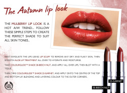 Autumn make-up tips from The Body Shop's International Make-up Artist Chase Aston