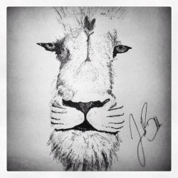 Oh. Hey there Aslan. Forgot I left you there. #oldies #penporn #lion #narnia #ART (Taken with Instagram at My Bed Foo)