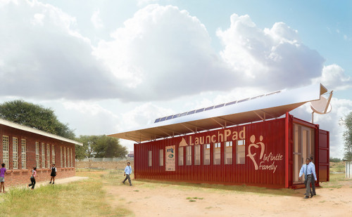 These solar-shaded computer centers are designed to help kids in the developing world gain access to mentors halfway around the planet.
